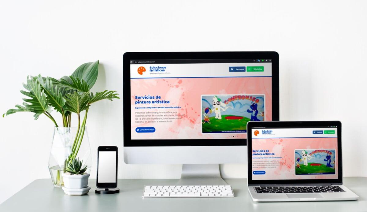 Cliente Soluciones Artisiticas Pagina web Onpage
